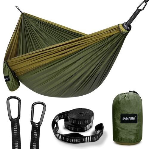 Large Camping Hammock 2 Person for Backpacking, Travel, Beach, Camping, Hiking