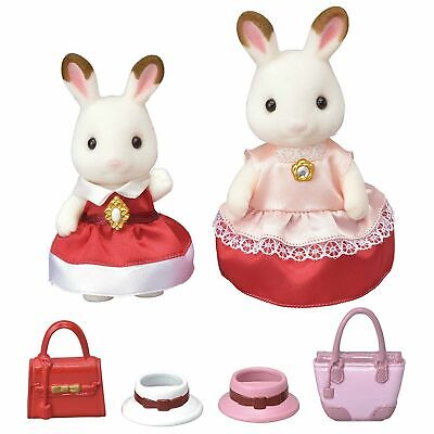 Sylvanian Families Dress Up Duo Set Chocolate Rabbit Figures - Tracked P&P ()