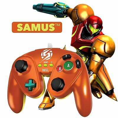 New PDP Fight Pad Controller for Nintendo Wii or Wii U - SAMUS (Metroid)