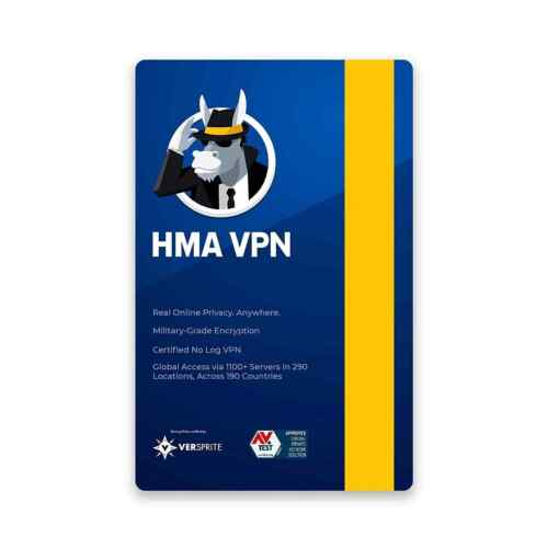 Hide My Ass VPN Unlimited Device 1 Year HMA Pro Key Windows, MAC, Android, iOS