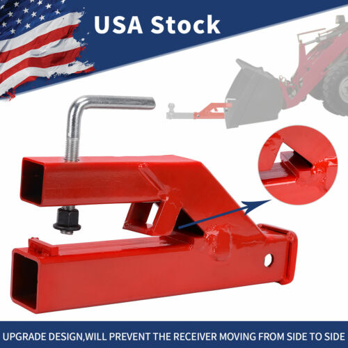 Clamp On Bucket Trailer Hitch Receiver Tractor Ball Mount Haul Attachment Steel