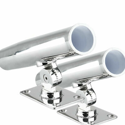 2 SETS Stainless Steel Tournament Rod Holder,Transom Wall Top Mount - -