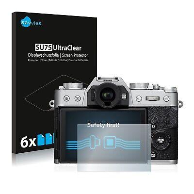 6x Displayschutzfolie für Fujifilm X-T20 Schutzfolie Klar Folie Displayfolie