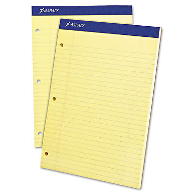 Ampad Legal Pad - Ampad Double Sheets Pad Legal/Wide 8 1/2 x 11 3/4 Canary 100 Sheets 20243