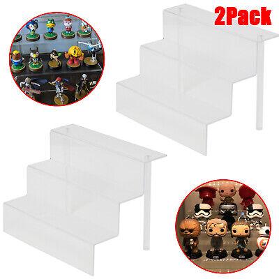2pcs Acrylic Display Stand 3 Step Display Riser Shelf For Decoration Organizer