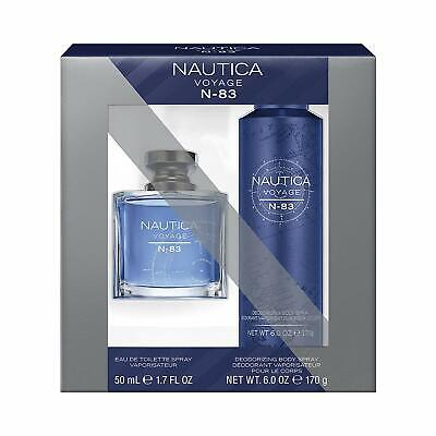 Nautica Voyage N83 2-Piece Gift Set: Eau de Toilette 1.7 Oz, Body Spray 6.0 Oz