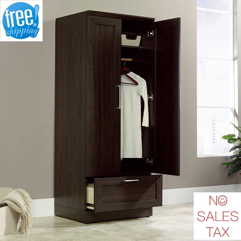 Armoire Wardrobe Cabinet Storage Closet Organizer Bedroom Fu