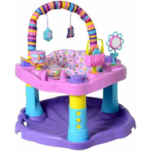 Exersaucer Bounce & Learn Sweet Tea, Party, Female, 6164920, Assorted, 14.9 lbs