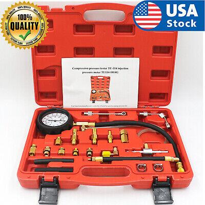 Fuel Injection Pump Pressure Tester Manometer Gauge System Test Kit For Car Auto