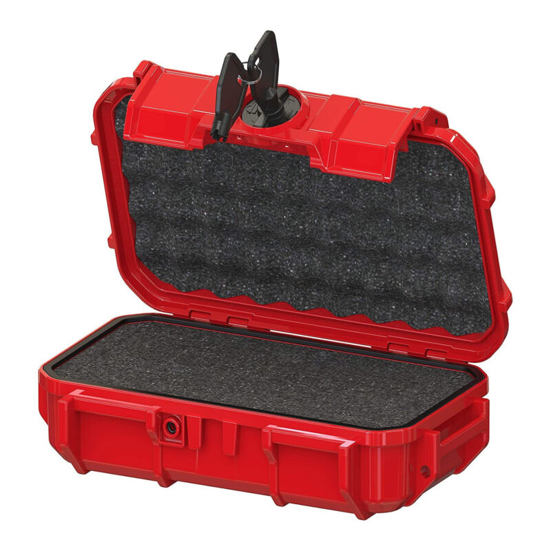 Seahorse 56 Micro Protective Waterproof Hard Case with Foam (Red)