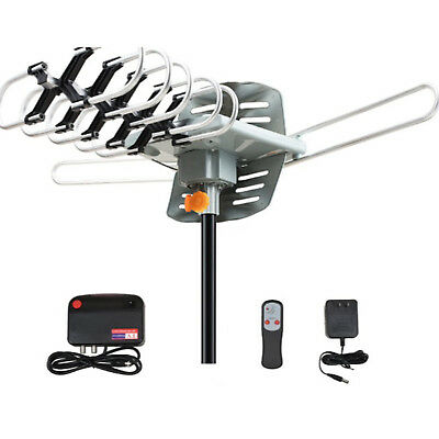 200 Miles TV Antenna Amplified Long Range Outdoor HD Digital 1080P 36dB UHF VHF