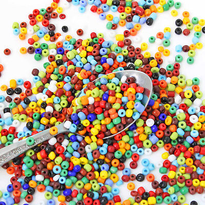 Glass Seed Beads 6/0 Mixed Assorted Colors Opaque 4mm - 50g - 650 beads - (650 Seeds)