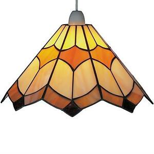 Glass light shades ebay stained glass light shade mozeypictures Choice Image