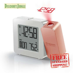 Oregon Scientific RM338PA Projection Atomic Clock Indoor Temperature, Rose Gold