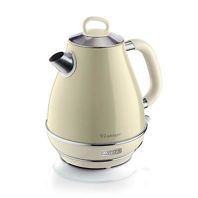ARIETE VINTAGE 2000W 1.7 LITRE CORDLESS JUG KETTLE CREAM BEIGE ***GRADED***