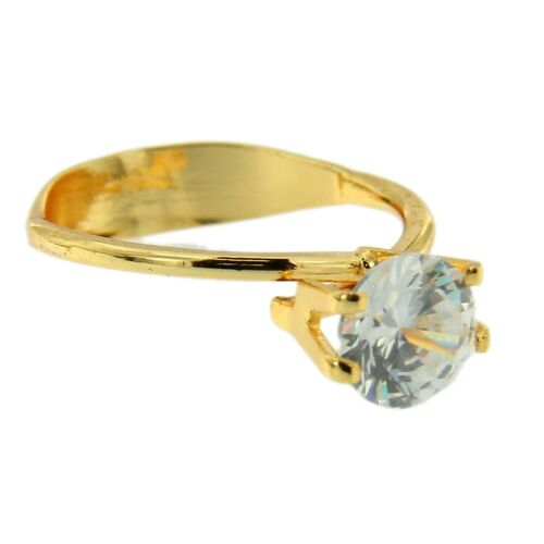 Diamond Gemstone Holder Ring Display Adjustable Prong Gold Tone Jewelry Tool