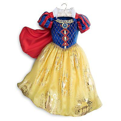 Disney Store Princess Snow White Halloween Costume Dress Girl Size 5/6  (Stores Halloween Costumes)