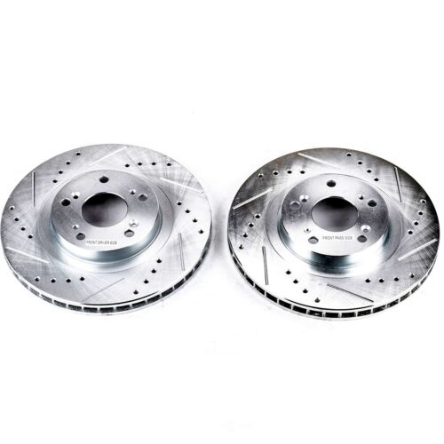 Power Stop JBR1701XPR Rear Evolution Performance Drilled Slotted/ /& Plated Brake Rotor Pair