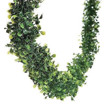 12 Feet BOXWOOD Leaf Garland Wedding Event Dining Table Faux Greenery Vine Decor (Faux Boxwood Garland)