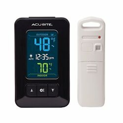 AcuRite 02023 Digital Indoor/Outdoor Thermometer with Clock , New, Free Shipping