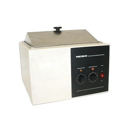 Precision Scientific 183 Stainless Steel 0-100c Heated Water Bath Wcover Lid