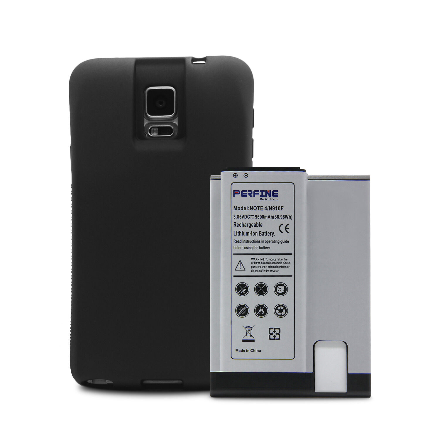 online store 1b7d6 7a9f3 Details about Note4 Battery for Samsung Galaxy Note 4 N910F 9600mAh NFC  Extended Battery+case