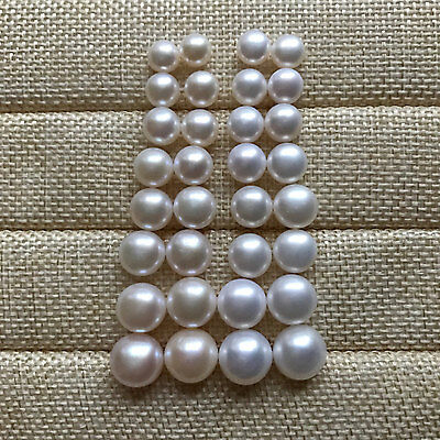 Button Shape Pearl - Genuine Cultured Freshwater Pearl beads,DIY pearl beads,Button shape pearl beads