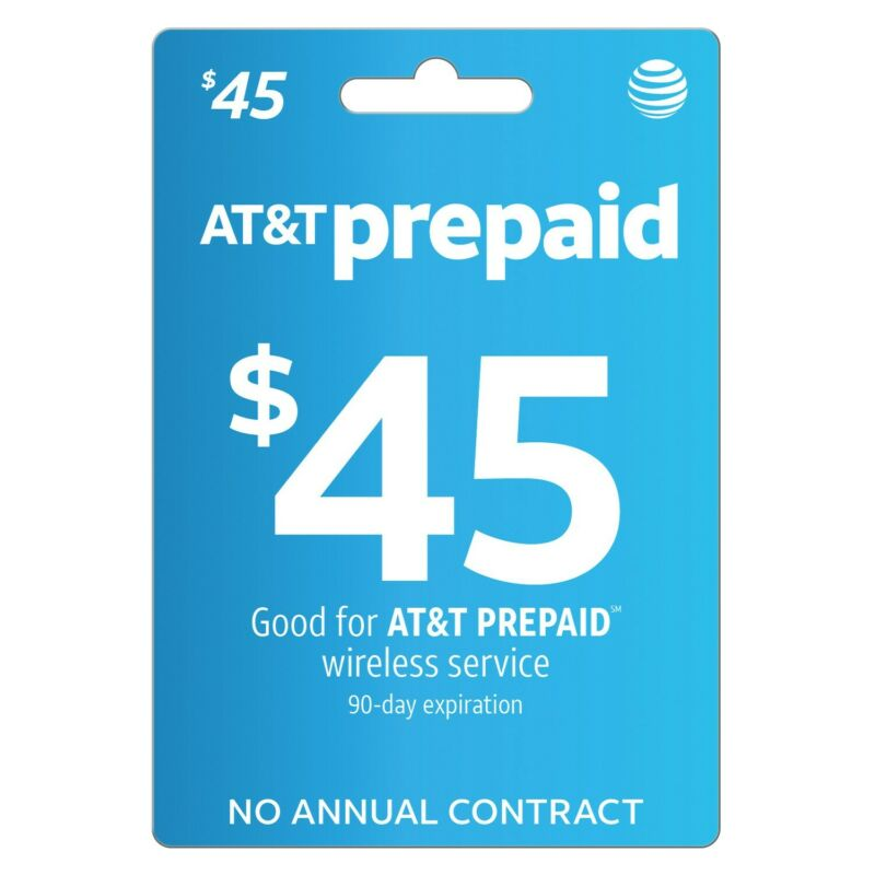AT&T | $45 | REFILL | RECHARGE | REUP