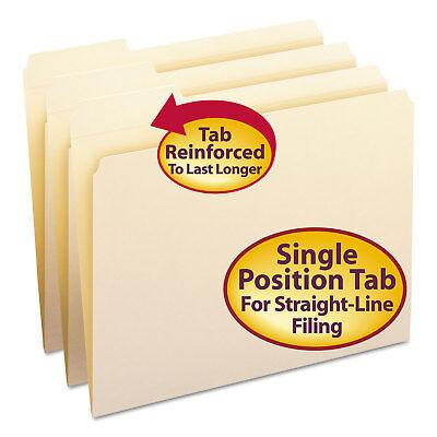 Smead File Folder 13 Cut First Position Reinforced Top Tab Letter Manila 100