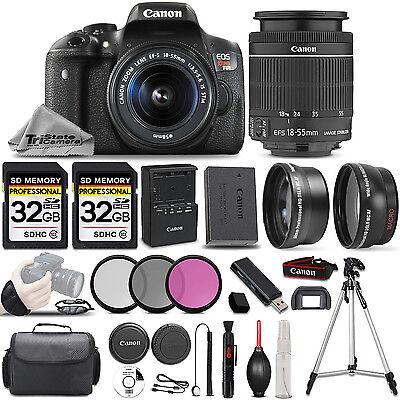 Canon EOS Rebel T6i SLR Camera + 18-55mm STM Lens + ULTIMATE Accessory Bundle