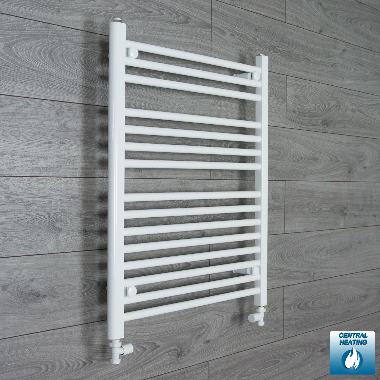 1000mm Wide 800mm High Straight White Heated Towel Rail Radiator Bathroom Rad