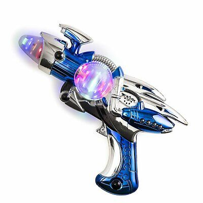 Toy Gun – Blue Light-Up Noise Blaster 11 ½ Inches Long With Cool And Fun