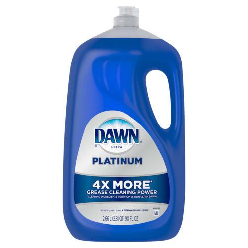 Dawn Platinum Dishwashing Liquid Dish Soap Refreshing Rain (90 oz) FREE SHIPPING