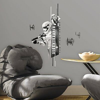 STAR WARS STORMTROOPER Wall Decals Bedroom Room Decor Stickers FORCE AWAKENS NEW - Star Wars Bedroom Decorations