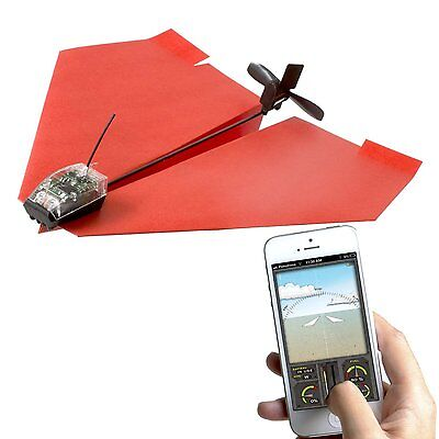 PowerUp 3.0 Smartphone Controlled Form Airplane, Android and iPhone Drone, NEW