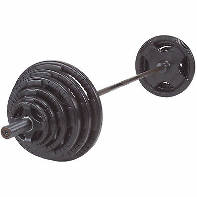300 lb. Olympic Rubber Grip Weight Set with Chrome Bar - Body-Solid OSR300S