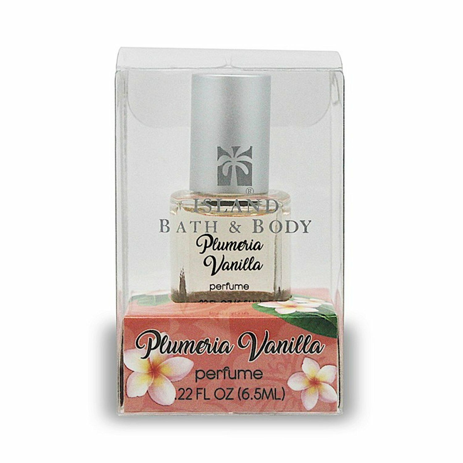 Hawaiian Plumeria Vanilla Flower Perfume from Island Bath and Body - 0.22 FL OZ