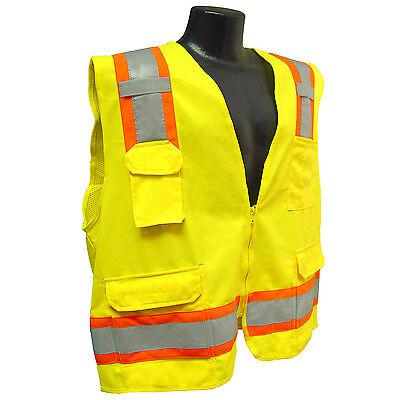 Radians Sv6g Two Tone Surveyor Class 2 Safety Vest Hi Viz Green