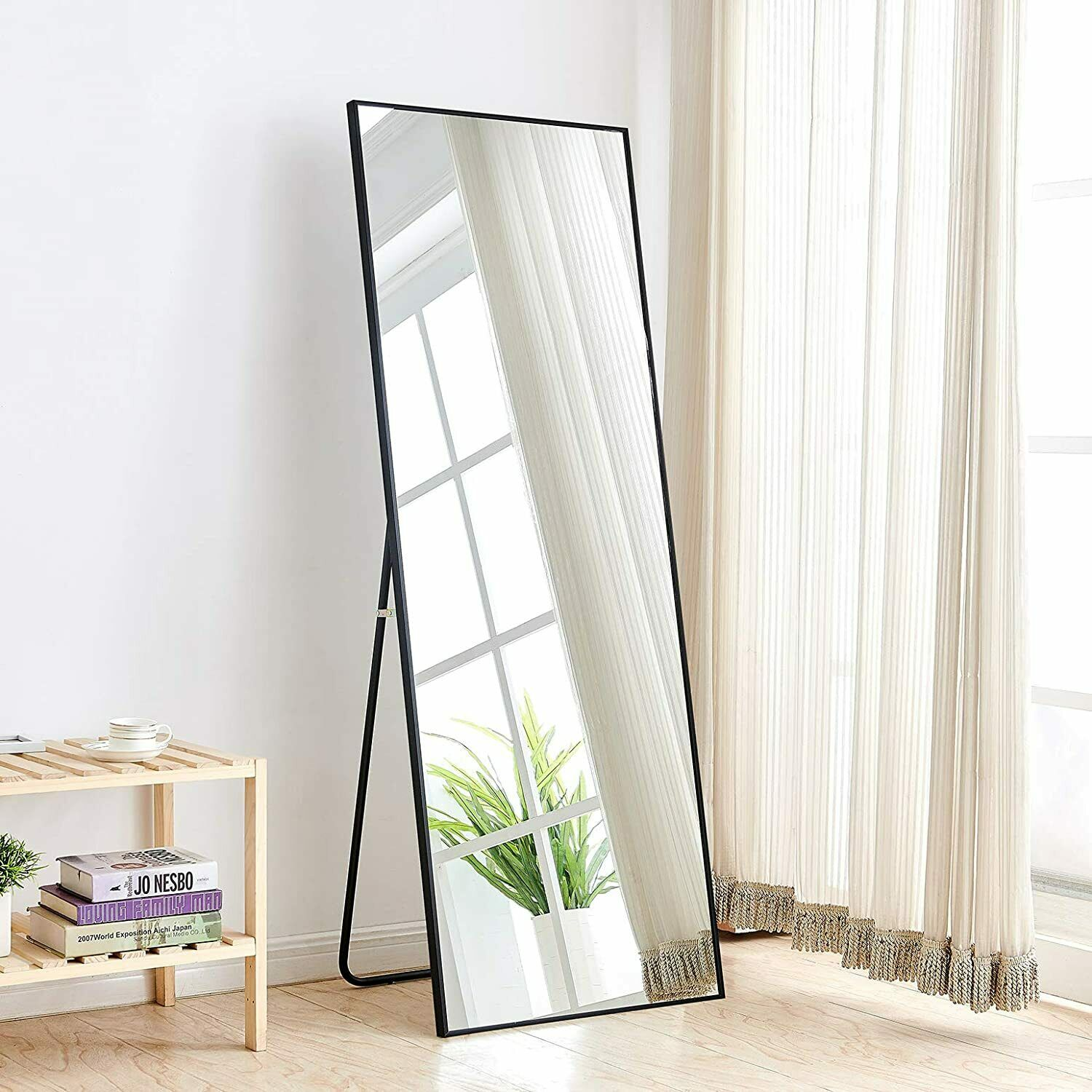 Full Length Mirror Bedroom Floor Mirror Free Standing Hanging Large Black Mirror Ebay