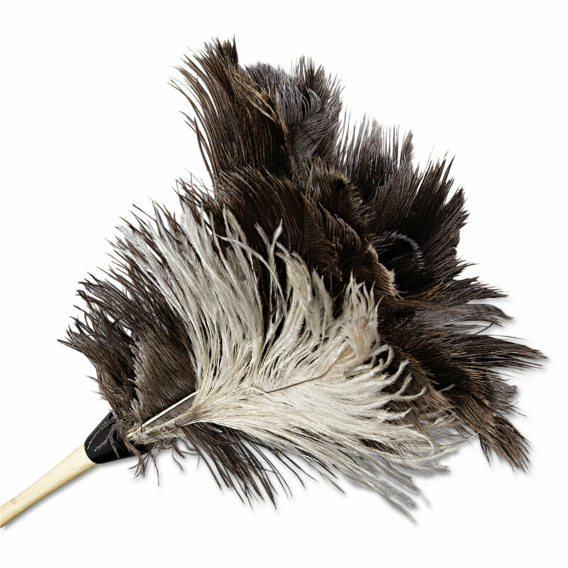 "Boardwalk Professional Ostrich Feather Duster 7"" Handle 13FD"