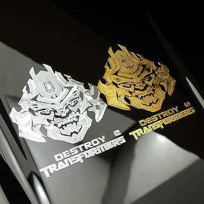 New Transformers Autobot Engraving Metal Logo Decals Protect Sticker Bumblebee