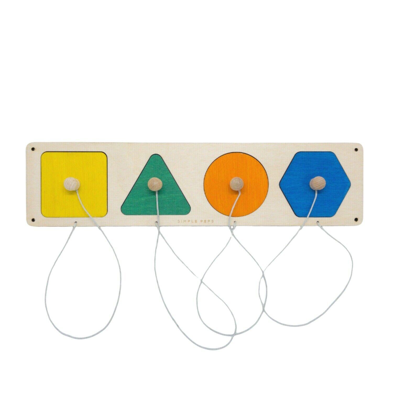 Holzpuzzle für MotorikWand Sensorik-Brett Activity Board Motorikbrett Montessori