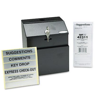 Safco Steel Suggestionkey Drop Box With Locking Top 7 X 6 X 8 12 4232bl