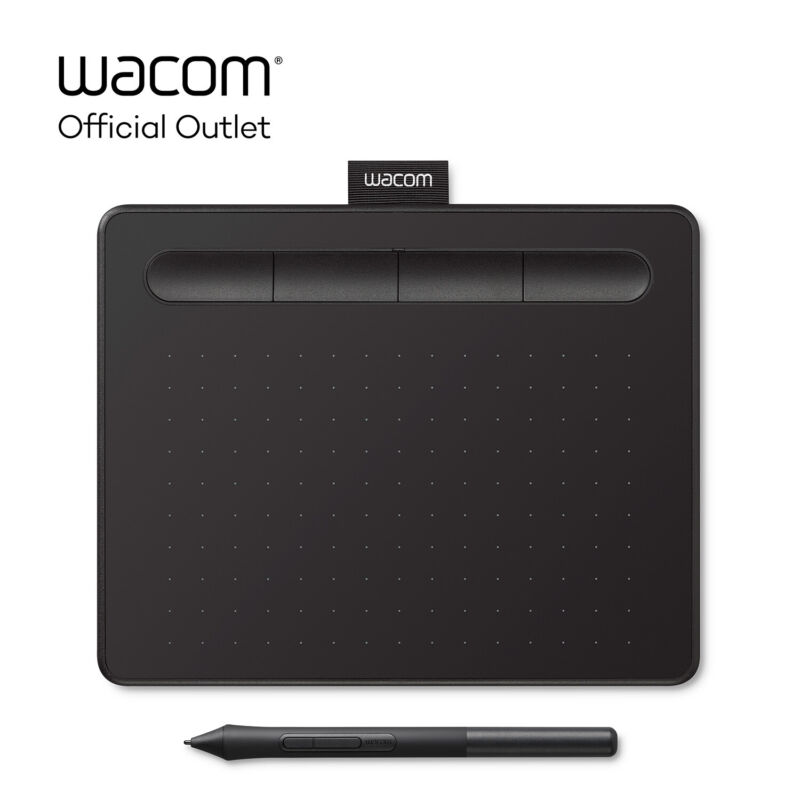 "New Wacom Intuos Graphics Drawing Tablet, Small 7.9""x 6.3"", Black, CTL4100"
