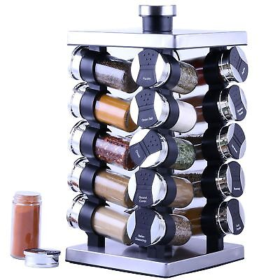 20 Jars Revolving Countertop Spices Rack with Free Spice - Free Shipping-NO Tax