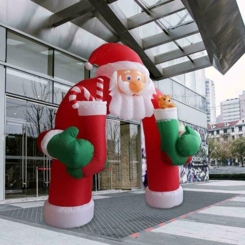 11 Ft Christmas Inflatable Santa Clause Archway LED Lights Yard Holiday Decor