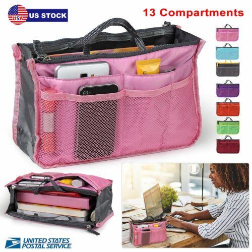Women Lady Travel Insert Handbag Organiser Makeup Bags Toile