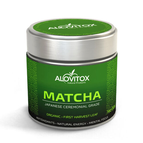 Matcha Green Tea Powder   High Caffeine  Ceremonial Grade Japanese First Harvest