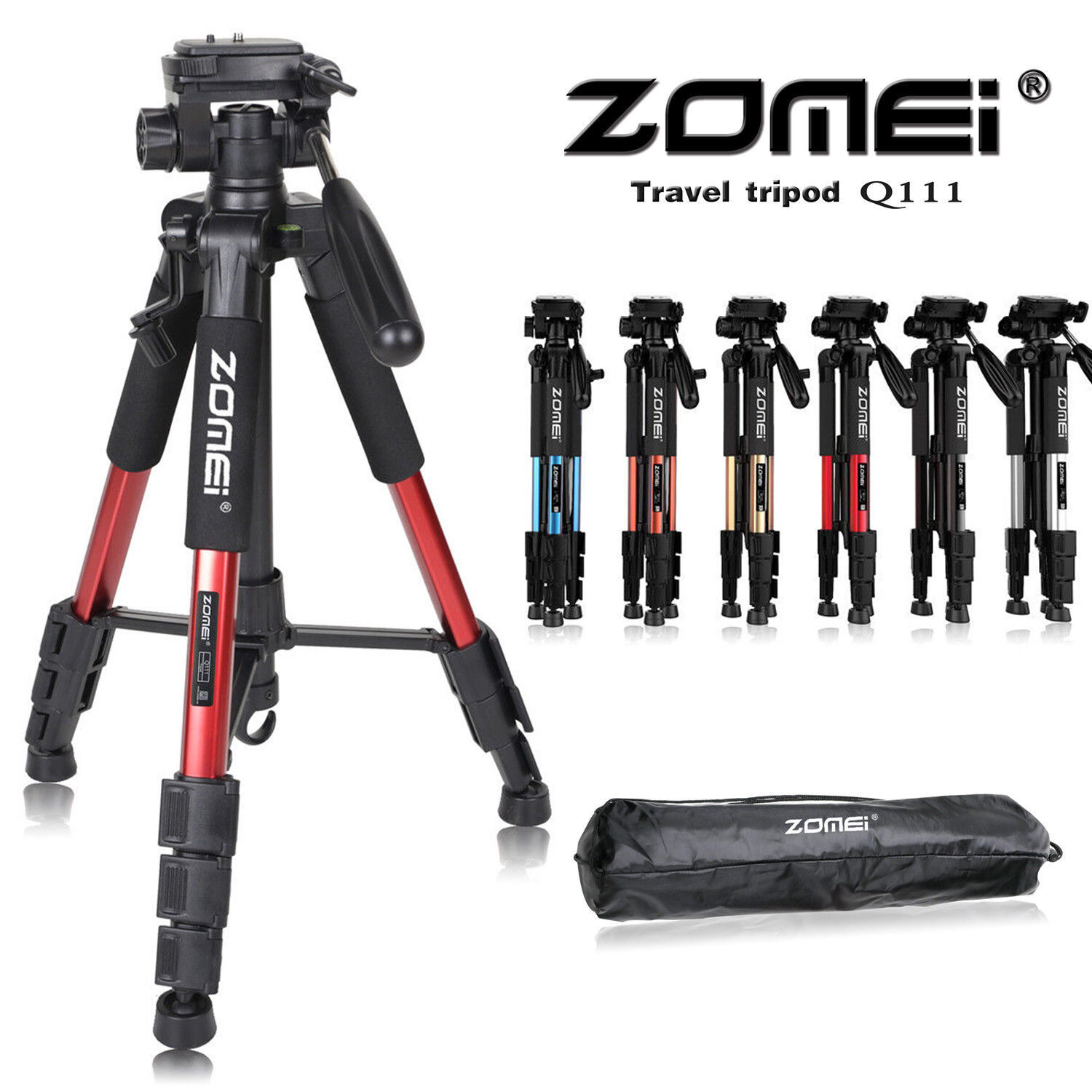 pro portable flexible camera tripod pan head