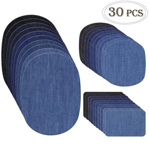 30pcs iron on denim fabric patches clothing